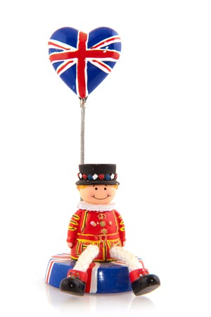 England souvenir with guard from London and Union Jack  Stock Photo - 7828460