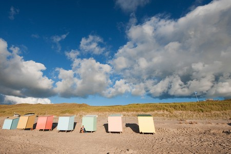 Colorful beach huts or houses from wood Stock Photo - 7828862