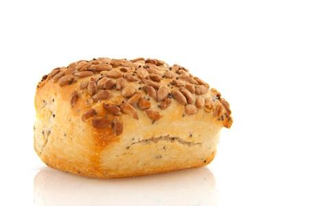 Luxury bread roll with grain op top photo