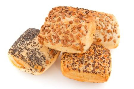 Luxury bread rolls with grain op top photo