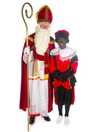Sinterklaas and Black Piet in the studio Stock Photo - 7828802