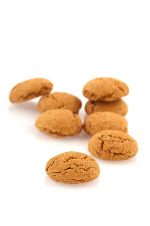 Several Sinterklaas ginger nuts isolated over white Stock Photo - 7828785