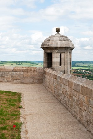 tower at the city wall from old French village Langres Stock Photo - 7934267