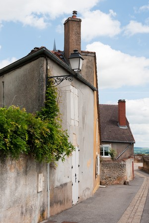 Street scene in the old French village Langres Stock Photo - 7934320