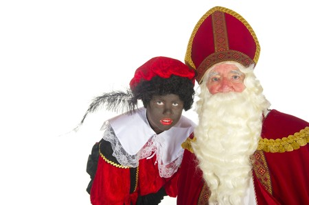 Portrait of the Dutch Sinterklaas isolated over white Stock Photo - 7908214