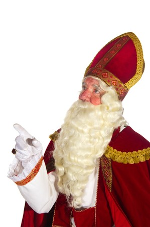 Portrait of the Dutch Sinterklaas isolated over white Stock Photo - 7908215