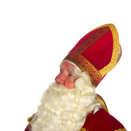 Portrait of the Dutch Sinterklaas isolated over white Stock Photo - 7908210