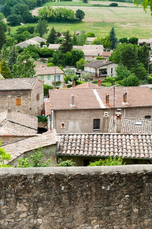 Little French village with houses in the Bourgogne Stock Photo - 7975227