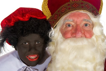 Sinterklaas and Black Piet in the studio Stock Photo - 7975058