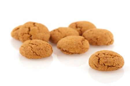 pepernoot: Several Sinterklaas ginger nuts isolated over white