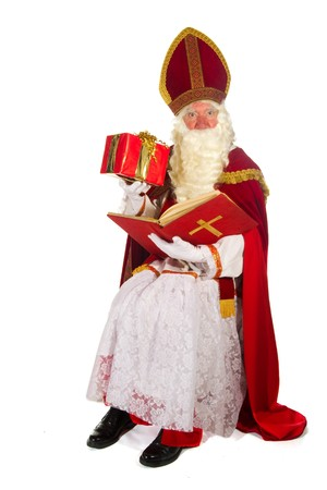 Dutch traditional Sinterklaas portrait in the studio Stock Photo - 8056348