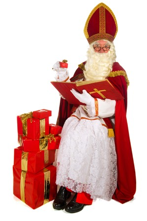 Dutch traditional Sinterklaas portrait in the studio  Stock Photo - 8056399