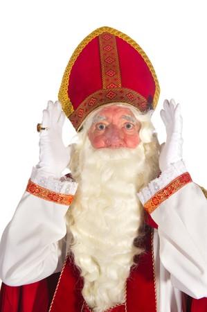Dutch traditional Sinterklaas portrait in the studio  photo