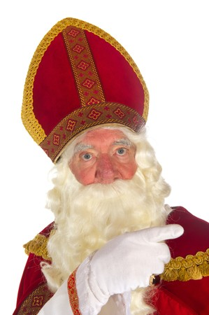 Dutch traditional Sinterklaas portrait in the studio Stock Photo - 8056493