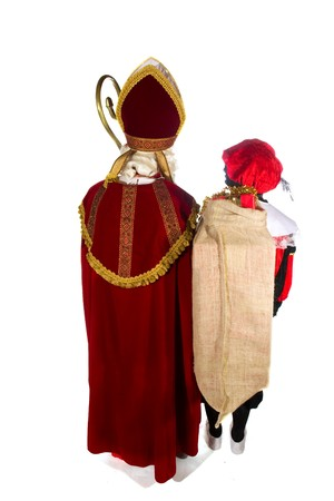 The back side of Sinterklaas and Black Piet Stock Photo - 8167036