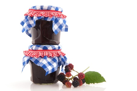 Homemade jam from brambles and other forest fruit photo