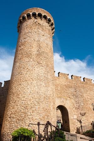 Castle in Tossa de Mar at the Spanish coast photo
