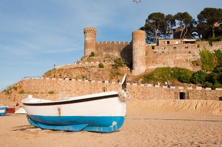 Castle in Tossa de Mar at the Spanish coast Stock Photo - 8379459
