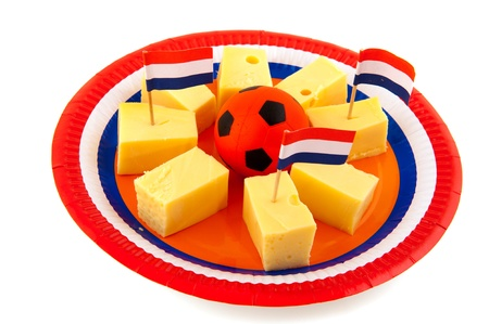 Dutch cheese cubes as snack during the soccer photo