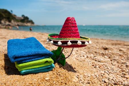 Spanish Sombrero at the summer beach on vacation photo