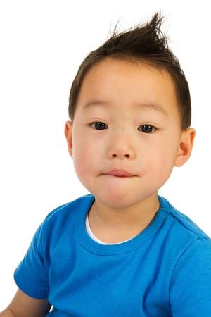 bambini cinesi: Ritratto di un ragazzino Cina Archivio Fotografico