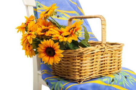 French still life with design from the Provence with sun flowers photo