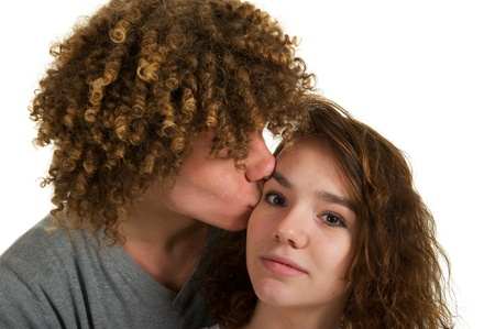 Portrait of a young attractive couple in love Stock Photo - 8916511
