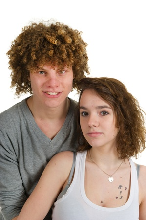 Portrait of a young attractive couple in love Stock Photo - 8916507