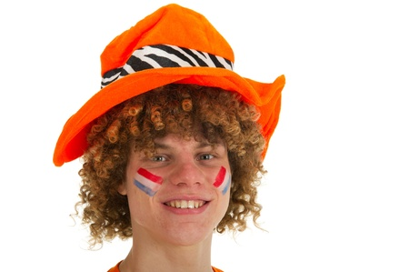 Young boy is supporting the Dutch team Stock Photo - 9047101
