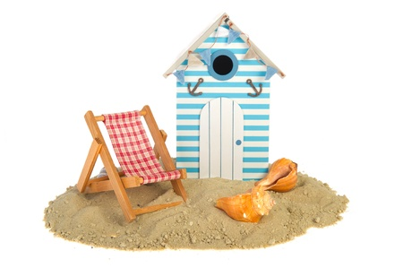 Summer beach hut with chair and shells Stock Photo - 9514844