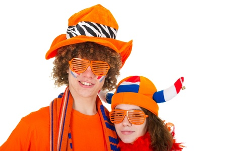 Young boy is supporting the Dutch team Stock Photo - 9514872