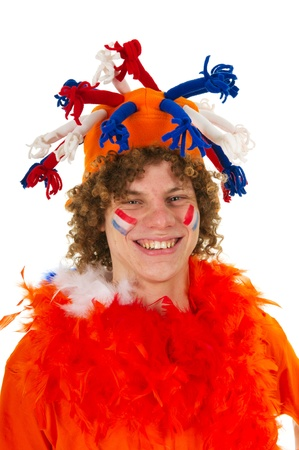 Young boy is supporting the Dutch team Stock Photo - 10010755