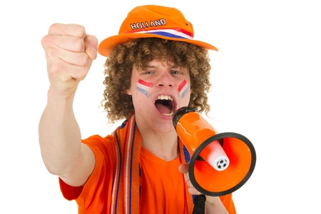 Young boy is supporting the Dutch team Stock Photo - 10010115