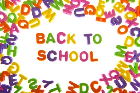 Many Letters In Various Colors As A Frame For Back To School Stock ...
