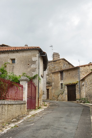 Street at an old French village Montbron in the Charente Stock Photo - 10639962