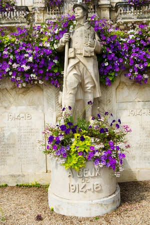 Memorial statue in France from world war one