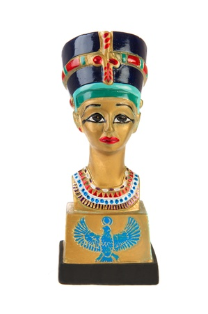 Famous buste from Nefertiti in Eqypt on white background Stock Photo - 10946616