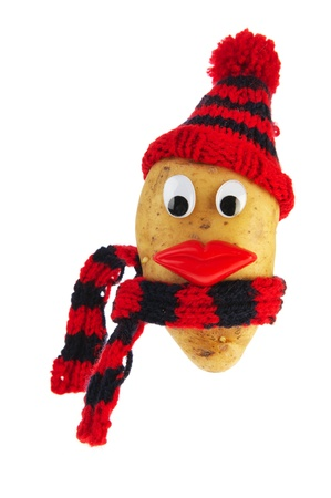 Dressed potato head for cold weather photo