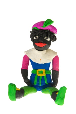 Clay puppet from Black Piet in Holland photo