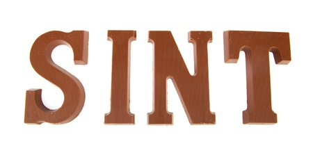 sinterklaas: Sinterklaas chocolate letters isolated over white background