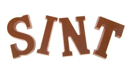 sinterklaas: Sinterklaas chocolate letters isoliert auf wei�em Hintergrund Lizenzfreie Bilder