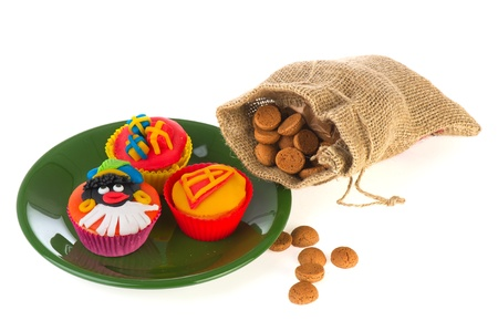 Sinterklaas cupcakes and pepernoten for Dutch holidays Stock Photo - 11263725
