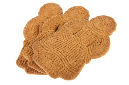 speculaas: Sinterklaas speculaas puppets isolated over white