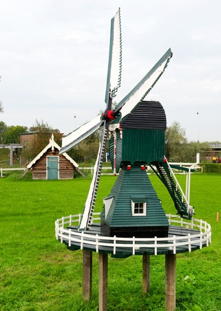 Wooden miniature windmill in Holland Stock Photo - 11473221