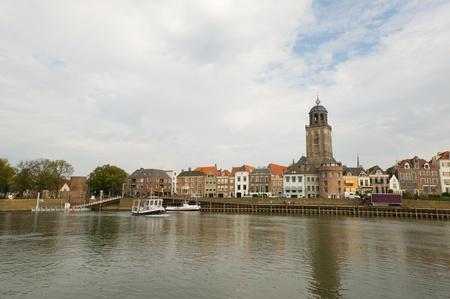 ijssel: Dutch village Deventer near the river the IJssel