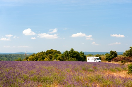 Traveling with mobile home in the French Provence photo