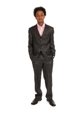 Young black business man standing in studio Stock Photo - 12729552