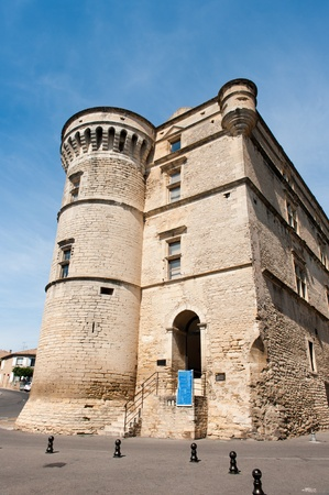 gordes: Castle with tower in French Gordes