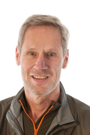 Senioren Sport-Mann im Portrait im Studio Lizenzfreie Bilder