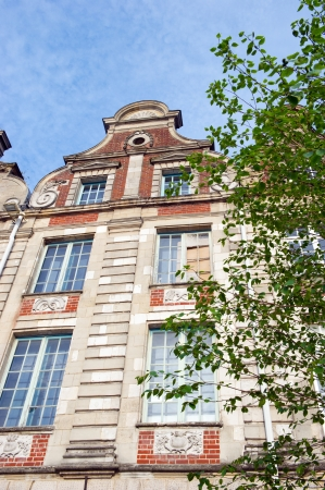 middle ages: Old buildings from the middle ages in French Arras